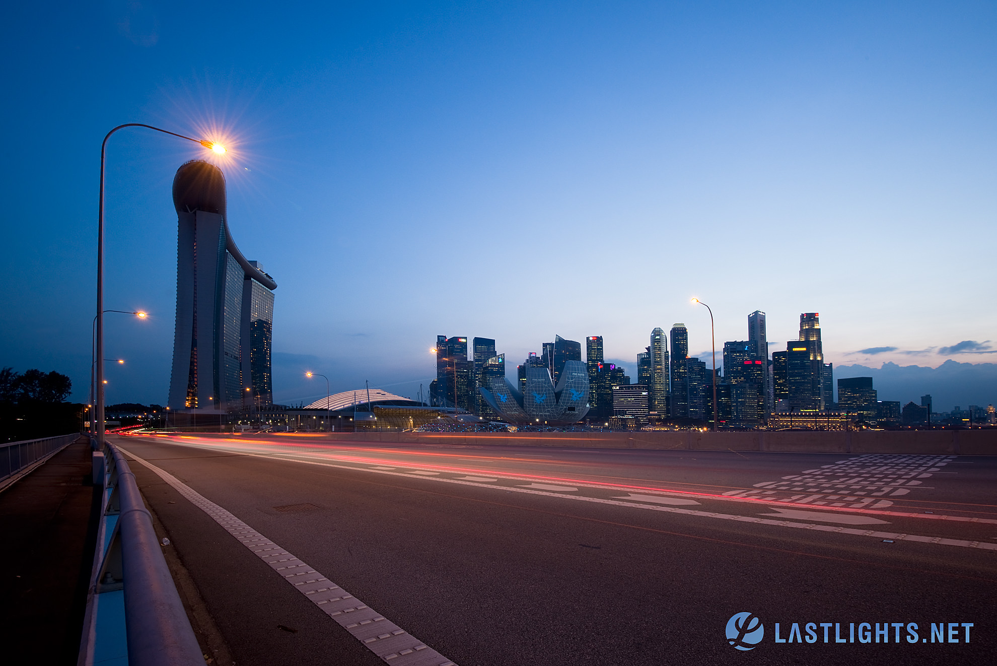 Singapore Skyline from Benjamin Sheares Bridge