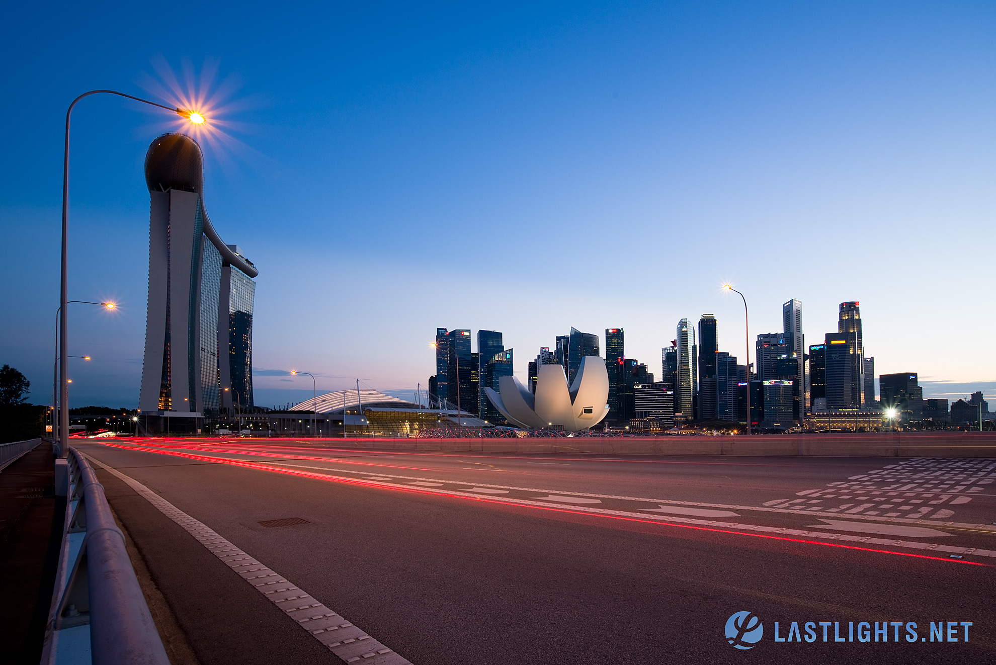 Singapore Skyline from Benjamin Sheares Bridge (SG2880)